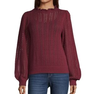 a.n.a. pointelle sweater